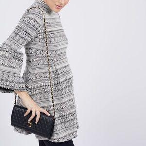 Octavia Maternity Black & White Bell Sleeve Tunic